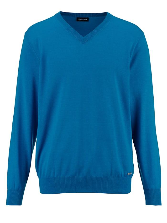 Babista Premium Pullover aus reiner Merinowolle, Türkis