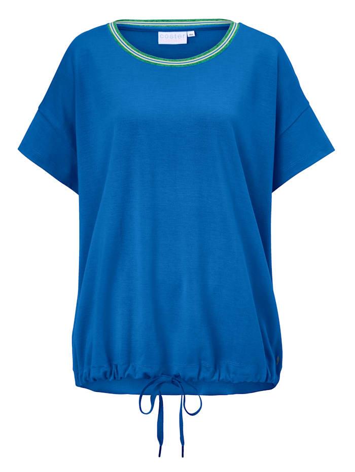 coster copenhagen Shirt mit Raffung, Blau