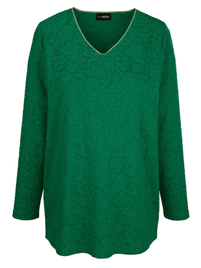 Sweatshirt in strukturierter Qualität