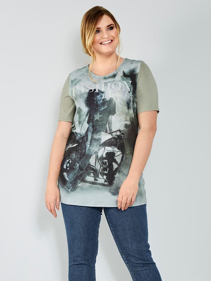 MIAMODA Shirt mit Frontprint, Pistaziengrün