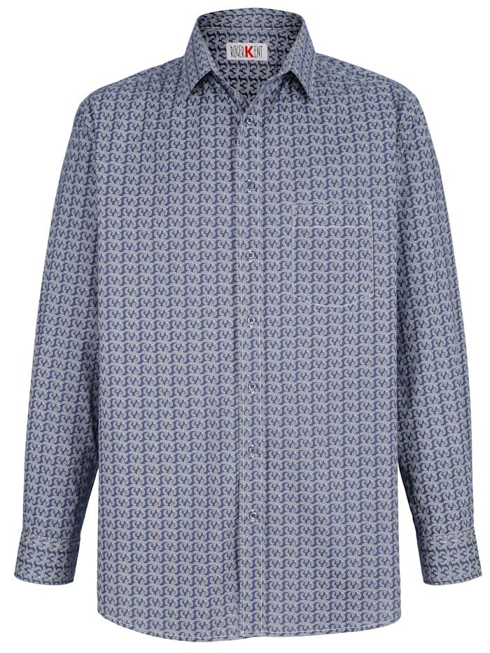 Skjorta med kontrasterande sömmar i vitt