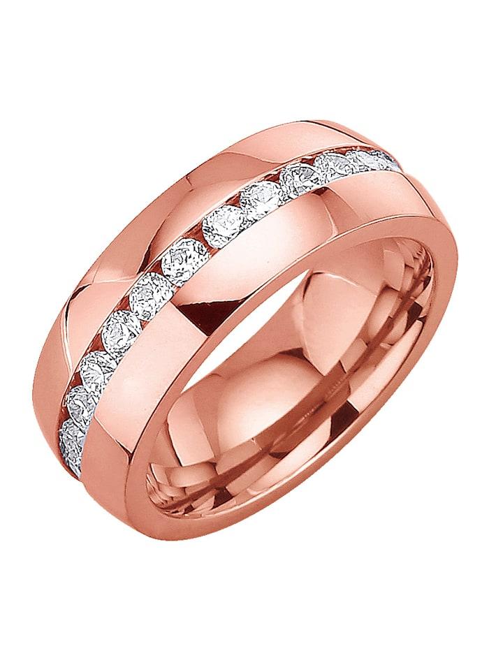 Dámský prsten se zirkony, Růžová