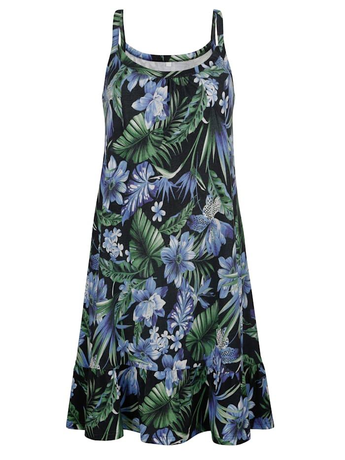 Maritim Strandkleid mit Stufe, Blau/Grün