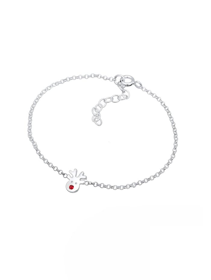 Armband Erbskette Rentier Kristalle 925 Silber