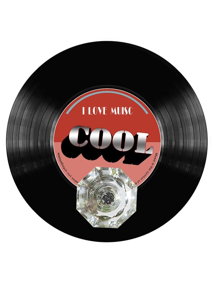 HTI-Line Wandhaken Vinyl, Schwarz, Rot