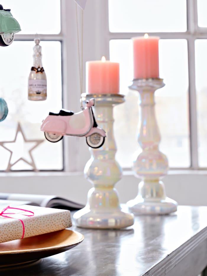 Kerzenständer, weiß, klein