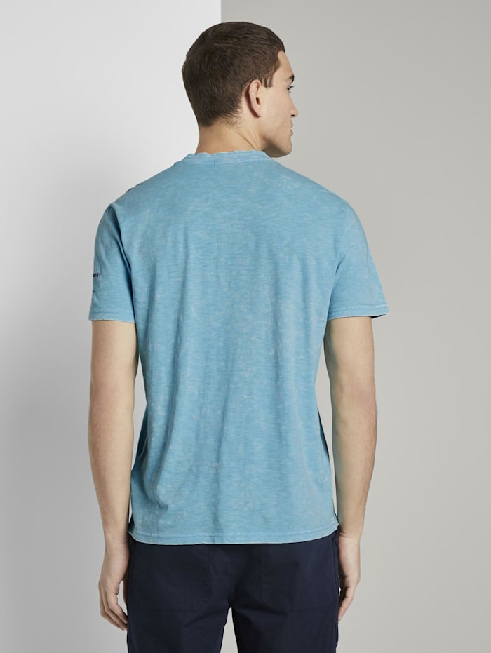 Henley-T-Shirt im Washed-Look