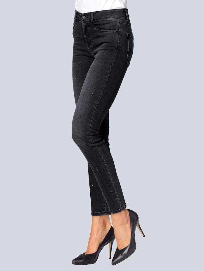 """BRAX Jeans """"Ana"""" von Brax mit Hotfixsteinchen, Dark grey"""