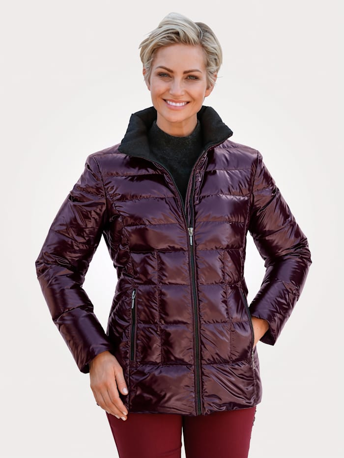 Jacket in a patent finish