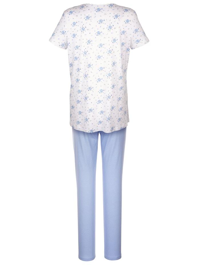 Schlafanzug im süßem Muster-Mix