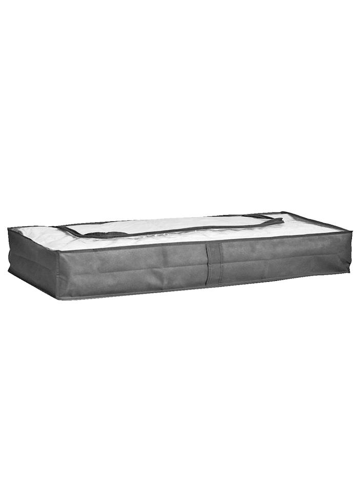 Zeller 2er-Set Unterbett-Boxen, grau, grau