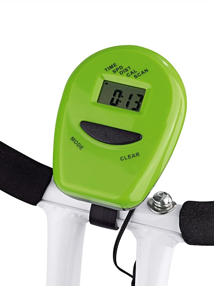 Hometrainer S-Bike, compact fitnessapparaat voor thuis, met trainingscomputer en 8 verschillende weerstanden