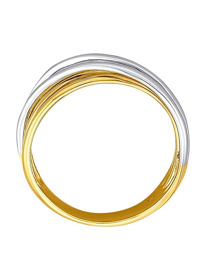 Bague en or jaune et or blanc 585