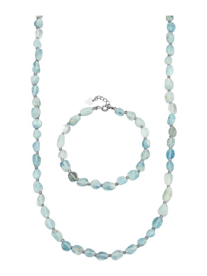 2-delige sieradenset, Blauw