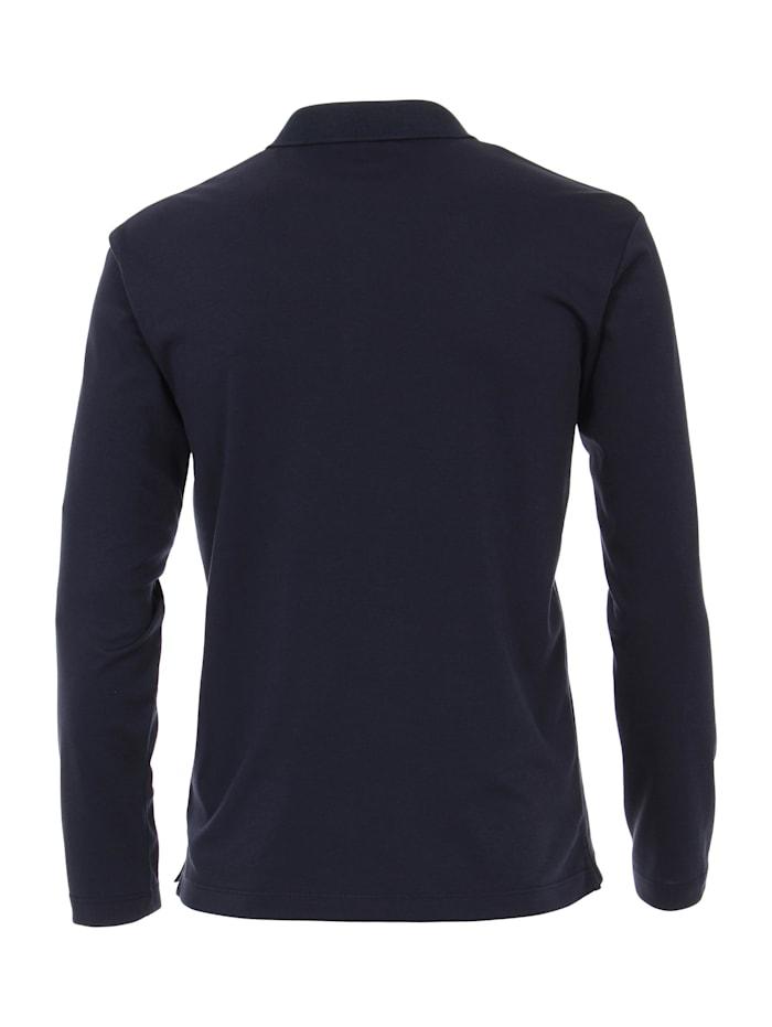 Polo-Shirt Langarm uni