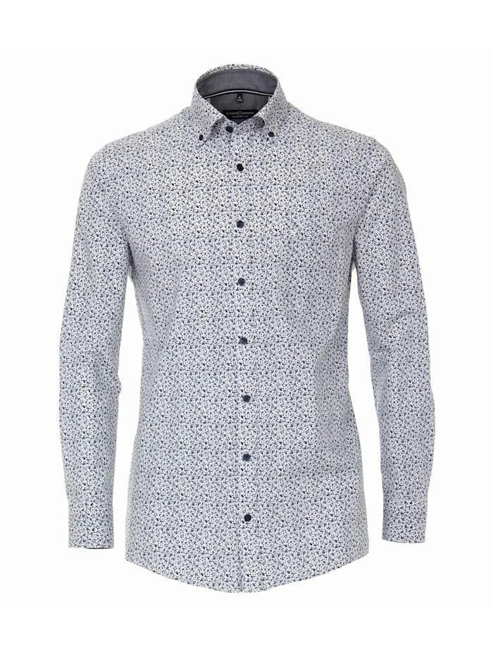 CASAMODA Hemd Print Comfort Fit, Dunkelblau