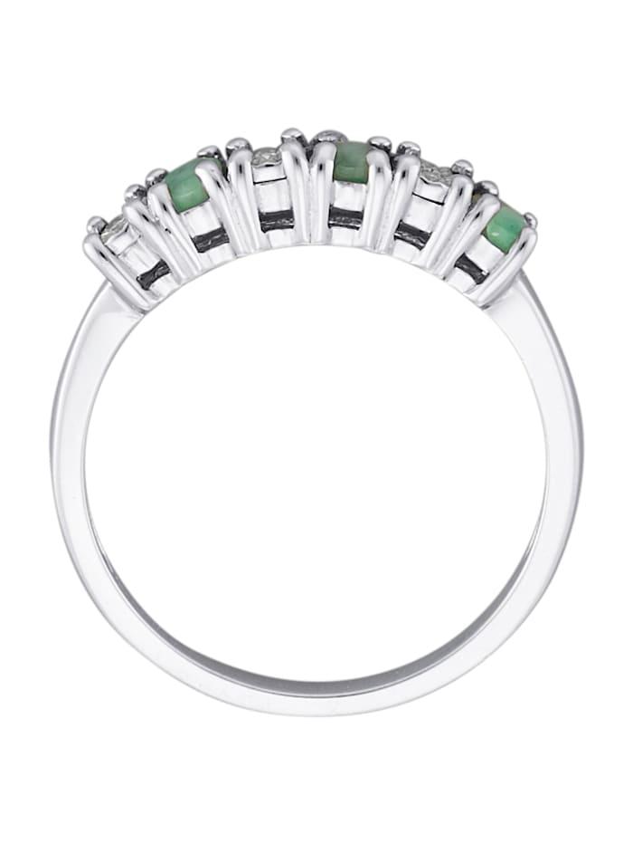 Damenring, 925 mit 3 Diamanten