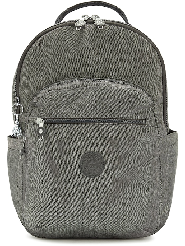 Kipling Peppery Seoul XL Rucksack 45 cm Laptopfach, black peppery