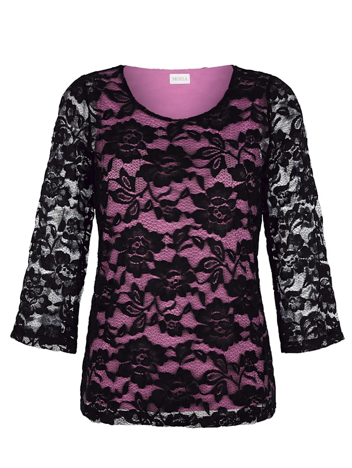 Top with floral detailing
