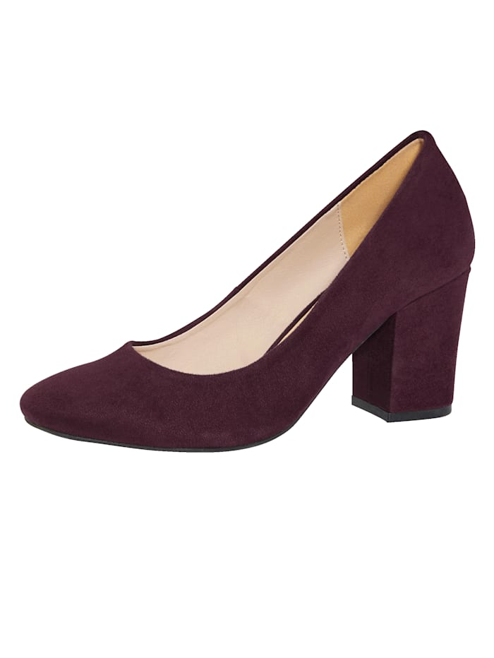 KLiNGEL Pumps in femininem Look, Beere