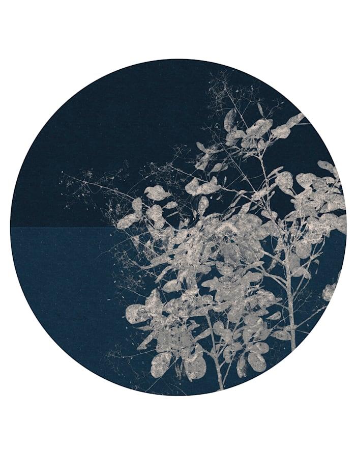 Komar Runde Fototapete, blau/weiß