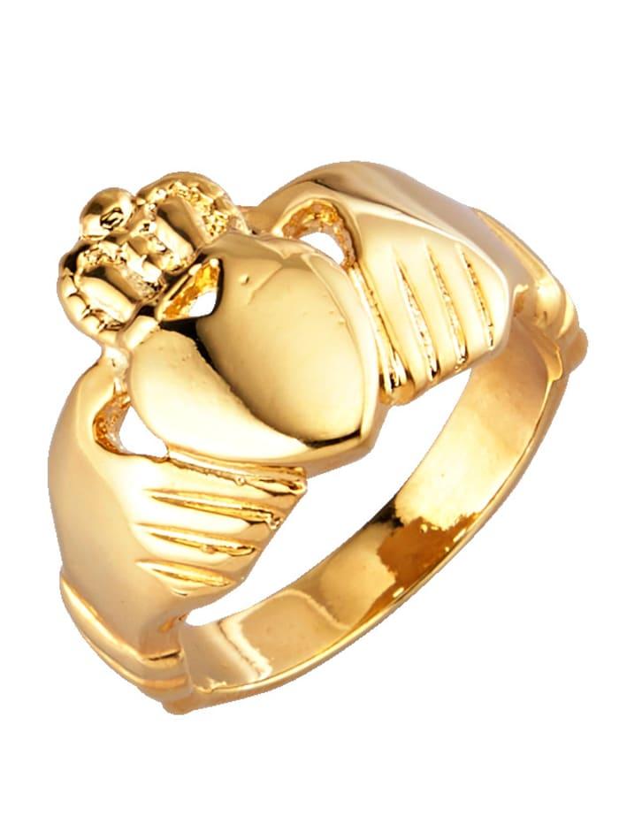 Golden Style Claddagh-Ring, Gelbgoldfarben