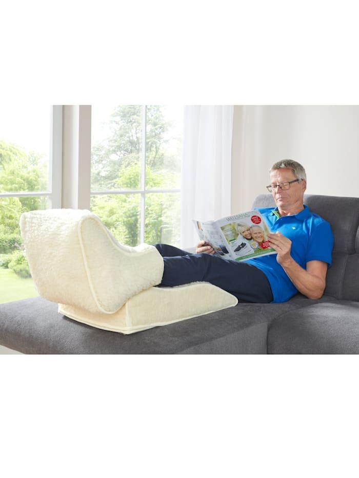 K & N Schurwolle Beenkussen met voetenwarmer als set of los, wit