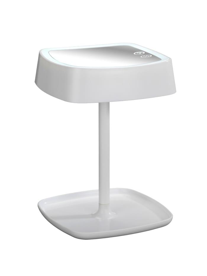 LED-Kosmetikspiegel & Tischleuchte Ostia, 5-fach Vergrößerung