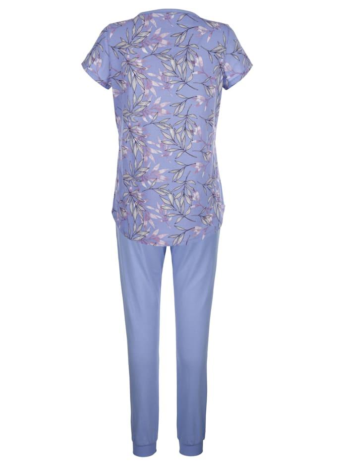Pyjamas med mönstrad överdel
