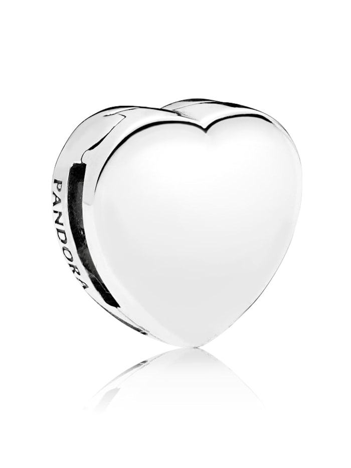 Pandora Clip-Charm -Herz- 797620, Silberfarben