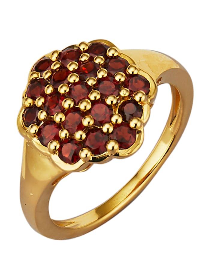 Damenring mit Granat-Steinen, Rot