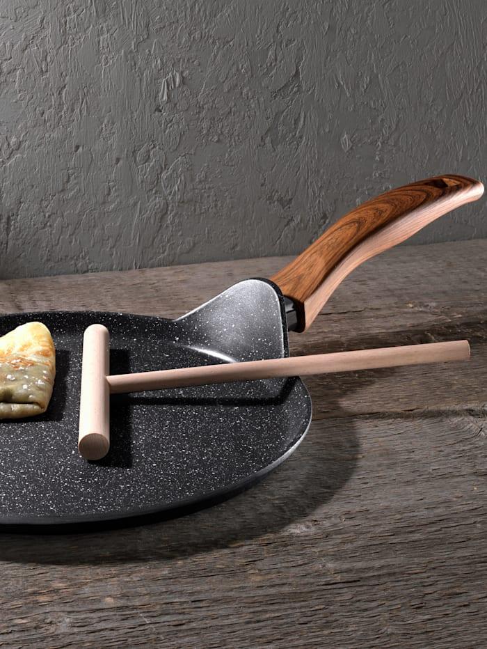Stoneline Kreppipannu, Ø 25 cm + taikinalevitin, Harmaa
