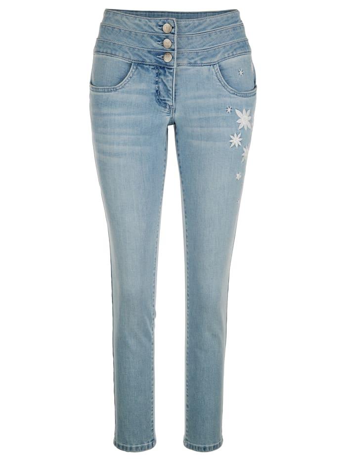 AMY VERMONT Jeans mit Stickerei, Light blue