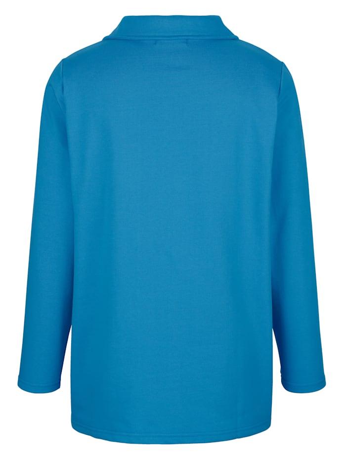 Sweatshirt med spetsinfällning på framstycket