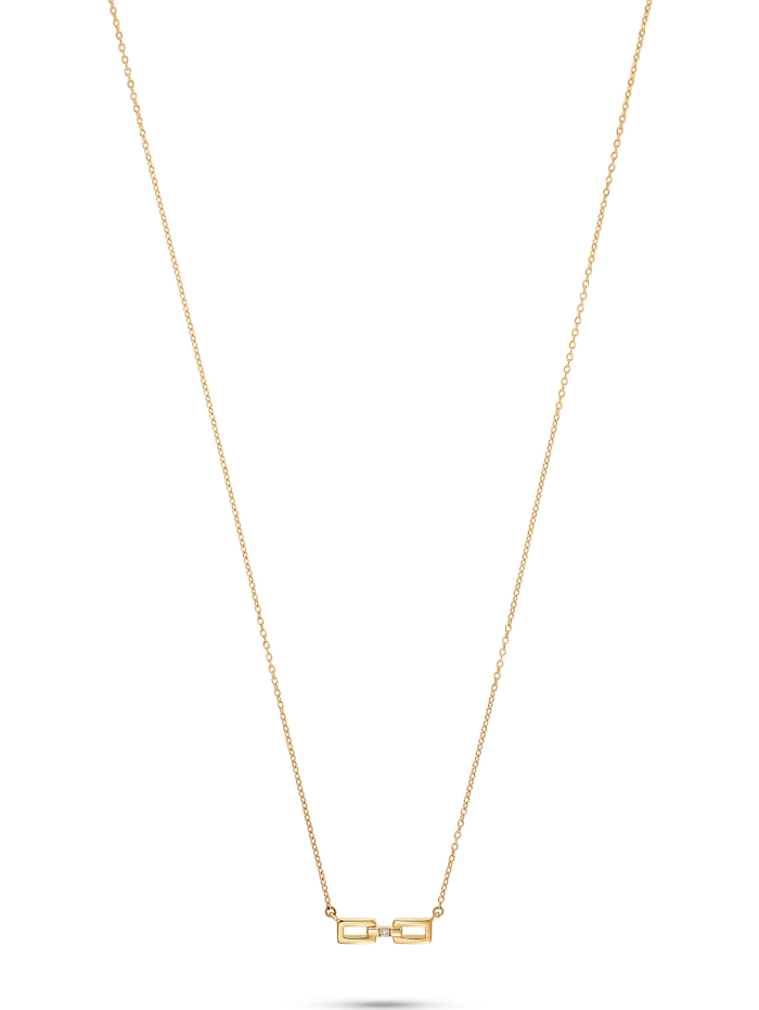 CHRIST Diamonds CHRIST Diamonds Damen-Kette 375er Gelbgold Diamant, gelbgold