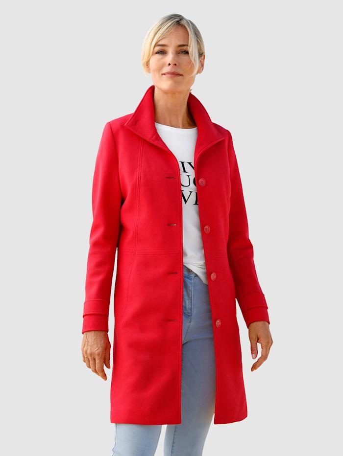 Dress In Kabát s vysokým stojatým golierom, Červená