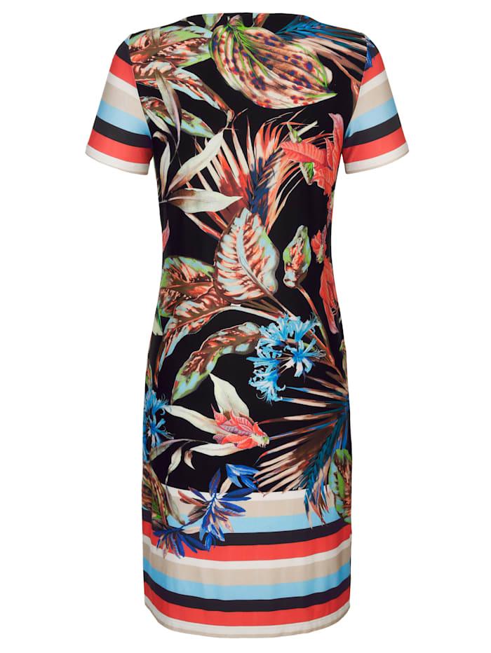 Strandklänning med blommönster