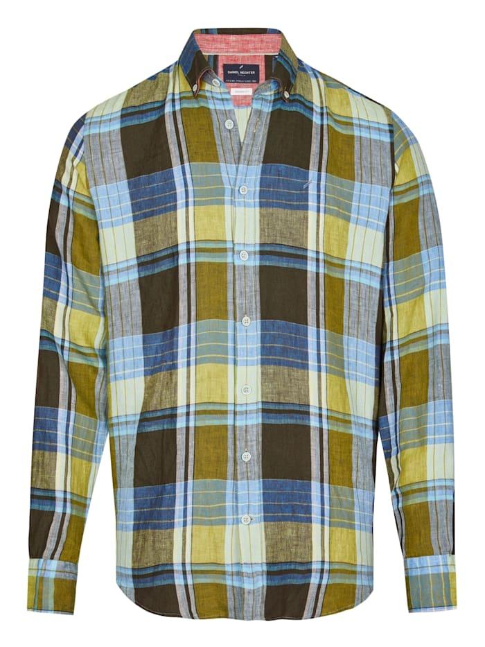 Modernes Leinenhemd mit Karo Muster