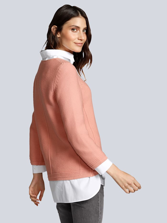 Pullover im grobem Strick