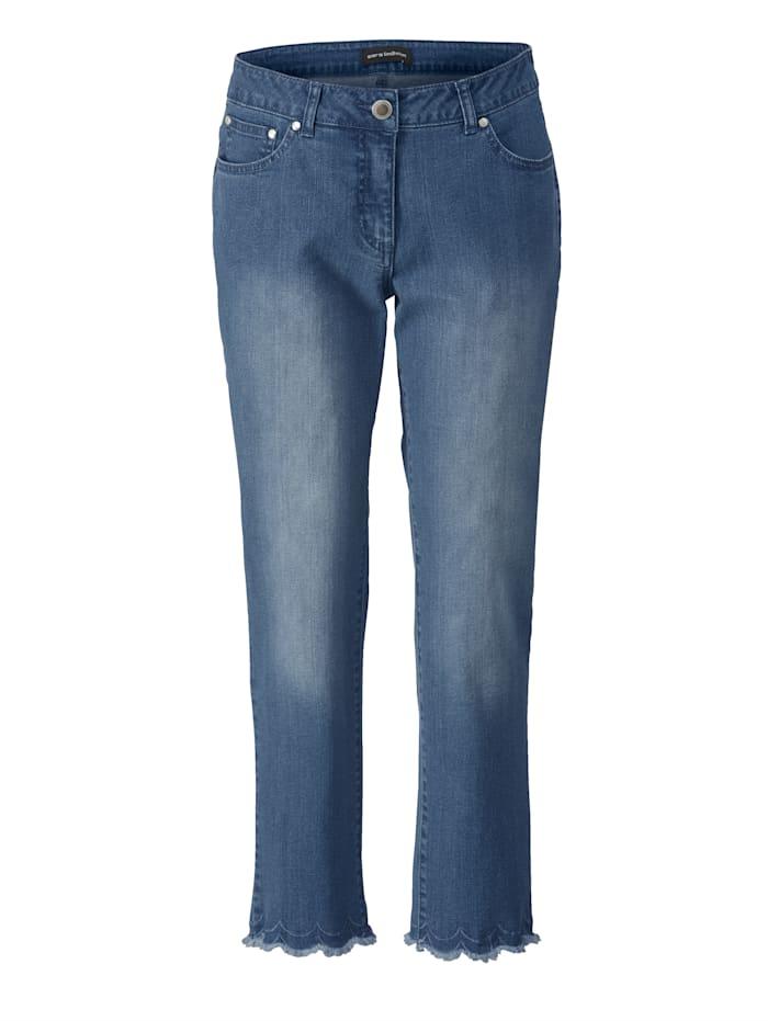 Slim Fit Jeans mit Spitze und Strass