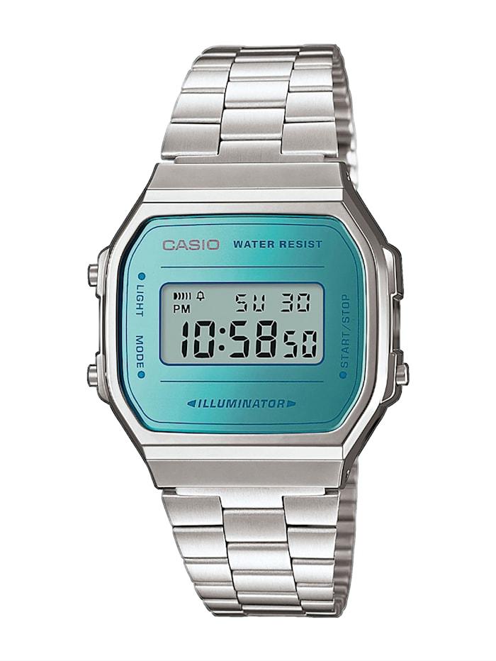 Casio Unisexuhr-Chronograph A168WEM-2EF, Grau