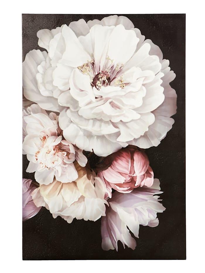 Kanvastavla Blommor, flerfärgad