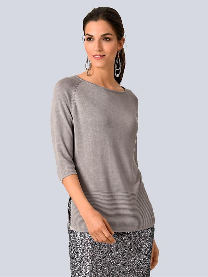 Alba Moda Pullover in Oversized-Form, Taupe
