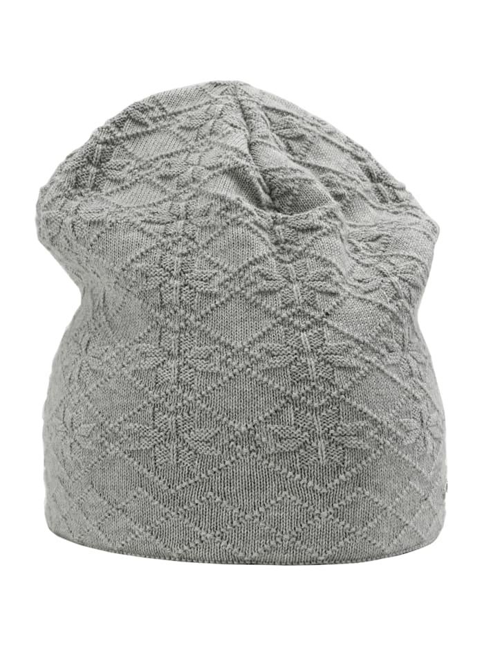 Sätila of Sweden Beanie Anna mit hübschem Schneeflockenmuster, light grey
