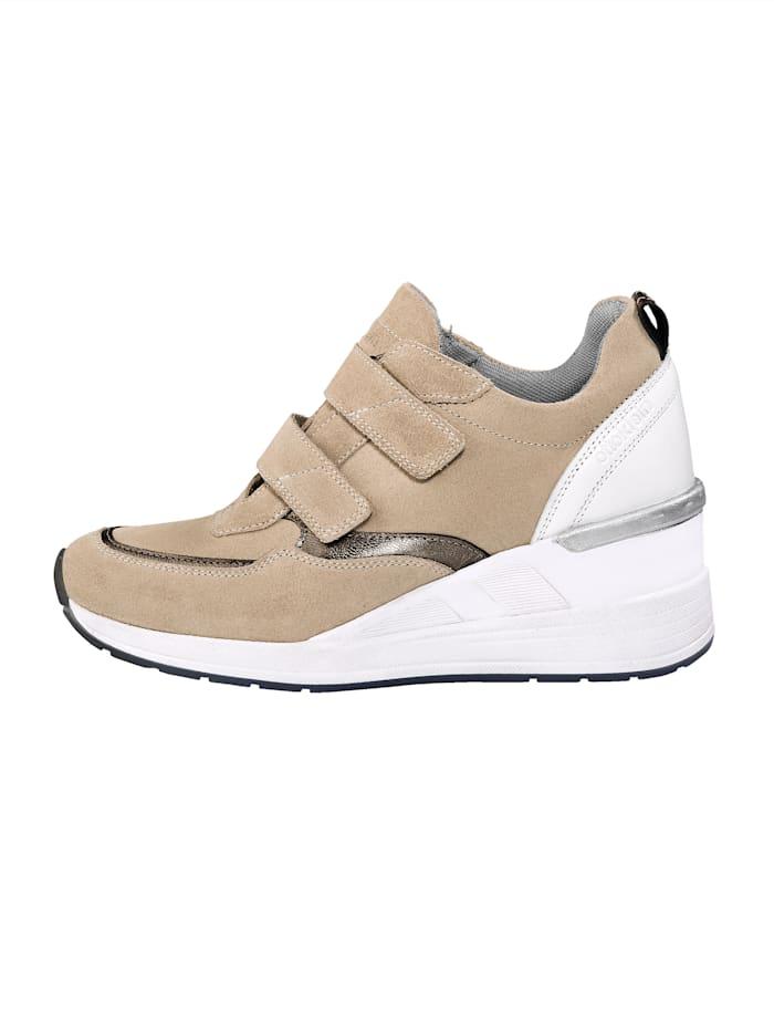 Klittenbandschoen met hoge sleehak