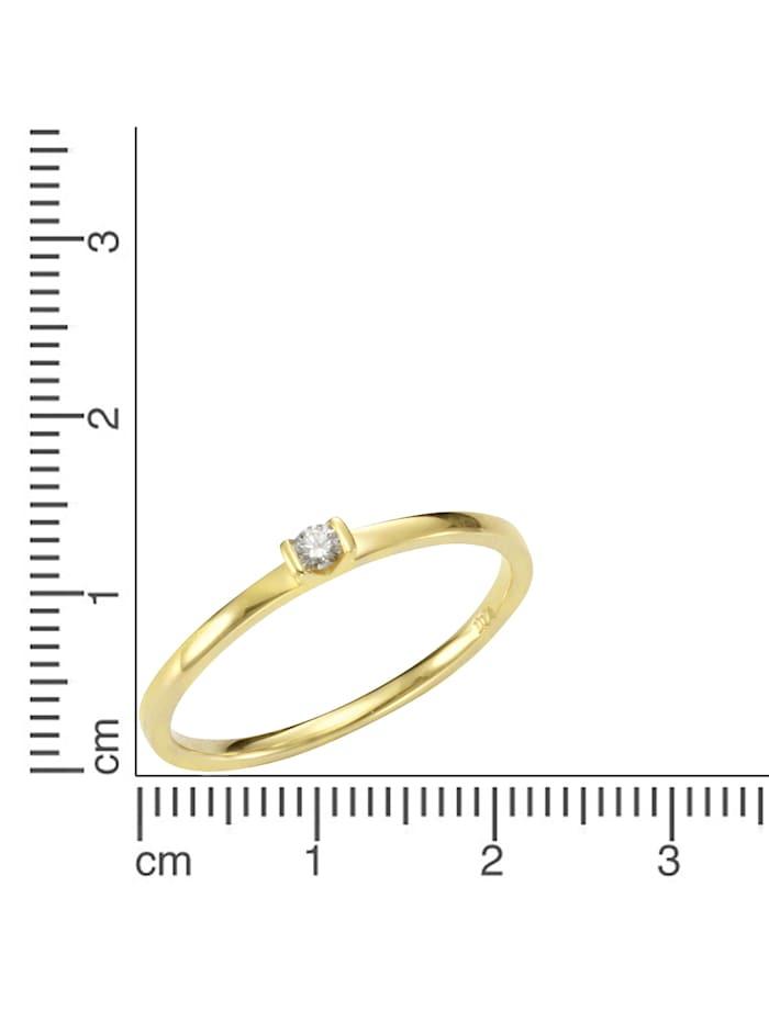 Ring 585/- Gold Brillant weiß Brillant Glänzend 0.07 Karat 585/- Gold