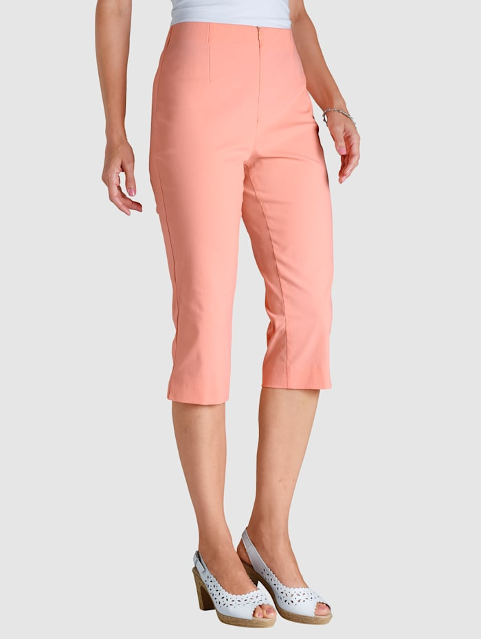 MONA 7/8 Hose mit Baumwolle Basic, Apricot