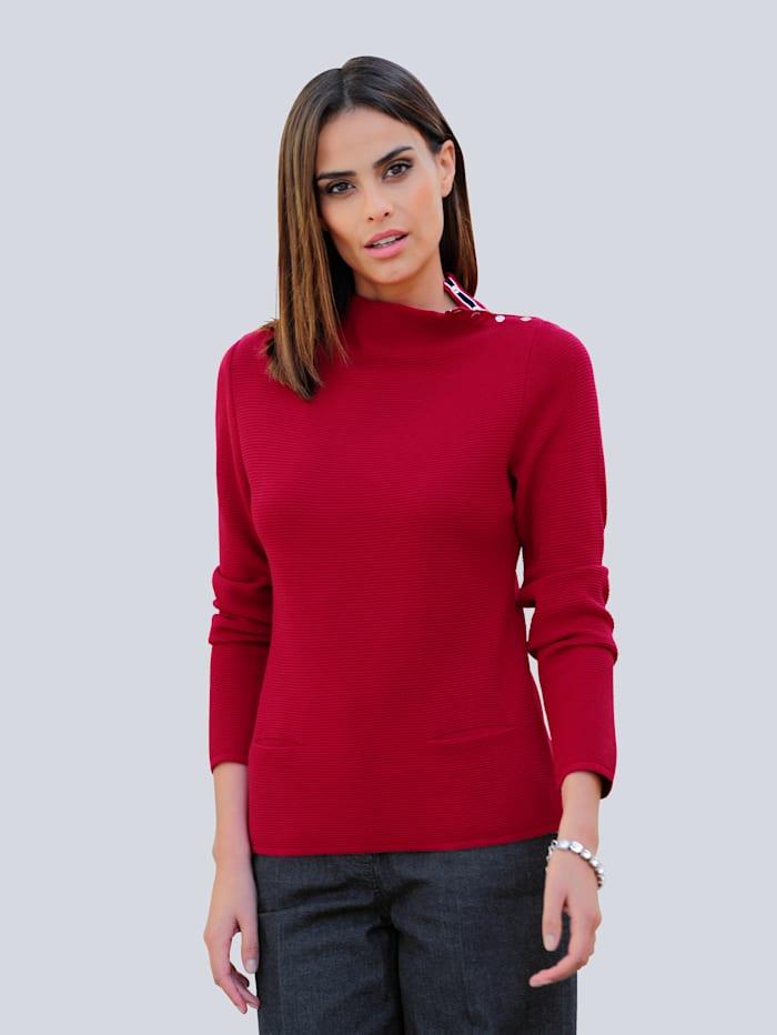 Alba Moda Trui in een makkelijk te combineren kleur, Rood