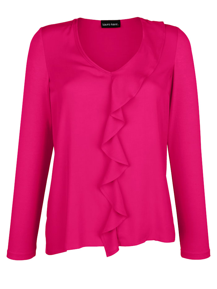 Laura Kent Shirt met volants, Pink
