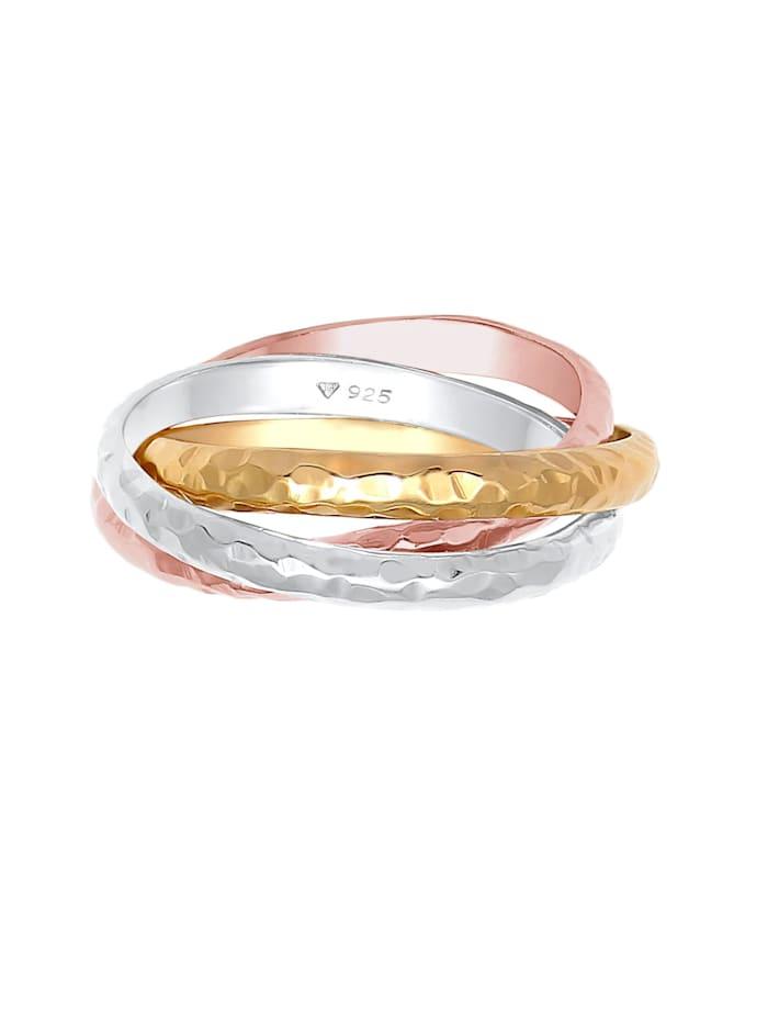 Ring Basic Wickelring Klassik Gehämmert 925 Silber